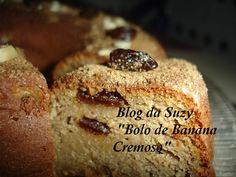 Blog da Suzy  : Bolo de Banana Cremoso (com Aveia e Passas)