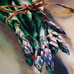 Asparagus Illustration by Debbie Boon, represented by Artist Partners
