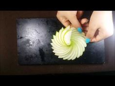 Art In Apple Carving Flower - Making A Rosette With Apple - YouTube