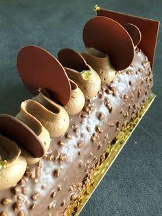 recette bûche chocolat citron praliné