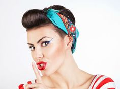 DIY RETRO BANDANA HAIR TUTORIAL do you think I could pull this off?