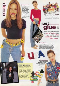 All you need is a hot glue gun and these cool ideas. 90s Teen Fashion, Early 2000s Fashion, Fashion Outfits, Mode Harajuku, Zack Y Cody, Vogue, Fashion Catalogue, Cute Outfits, Vintage Fashion