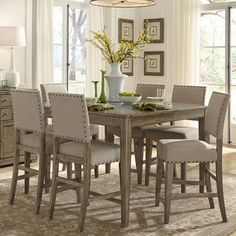 Infini Furnishings Amelie 7 Piece Counter Height Dining Set & Reviews | Wayfair