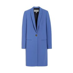 Riva Coat in Nautical Blue Double Crepe | Women | Mulberry