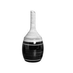 Vaso Riscado Grande em Cerâmica. Este vaso vai dar aquele toque sutil e cheio de estilo para a sua casa.