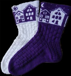 Ravelry: Tonight socks by Caoua Coffee - free knitting pattern Knitting Charts, Baby Knitting Patterns, Free Knitting, Crochet Socks, Knitting Socks, Knit Crochet, Knit Socks, Mochila Crochet, How To Purl Knit