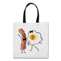 Bacon 'N Egg Lover Tote Bag- The perfect way to carry around your breakfast for the day. Breakfast for every meal, right?! Okay, I guess it could carry your purse essentials too..