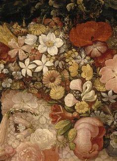 la primavera (detail) by giuseppe arcimboldo, (1573), Musée du Louvre Paris