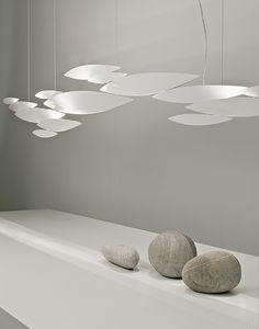 Halogen modular metal pendant #lamp I LUCCI ARGENTATI by TERZANI   #design Dodo Arslan @terzani
