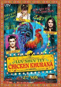 """""""Luv Shuv Tey Chicken Khurana"""" Movie Poster 2012"""