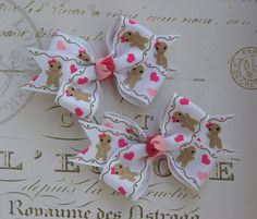 M2M M2MG Gingerbread Girl Christmas Hairbows  Clips on Etsy, $3.99