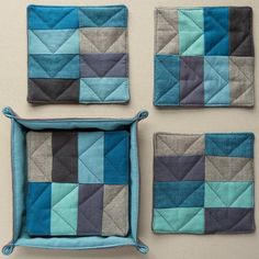 coasters made by Nova from Rashida's pattern in I heart patchwork