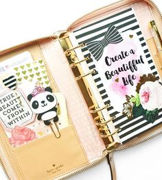villabeautifful_creates: Finally took the time today to set-up my #rosegold #katespade planner. Gah! I love it so chic and feminine. Tags shops if your wondering what I used!