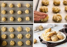 Process Shots of Gluten-Free Almond Cookies. Gluten Free Cream Puffs Recipe, Gluten Free Almond Cookies, Almond Meal Cookies, Cream Puff Recipe, Gluten Free Deserts, Almond Flour Recipes, Dutch Recipes, Sweet Recipes, Dairy Free Biscuits