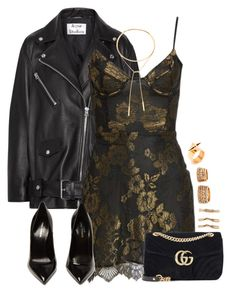 A fashion look from November 2017 featuring For Love & Lemons dresses, Acne Studios jackets and Yves Saint Laurent pumps. Browse and shop related looks. Look Fashion, Fashion Outfits, Womens Fashion, Classy Outfits, Stylish Outfits, Look Girl, Rock Chic, Polyvore Outfits, Yves Saint Laurent