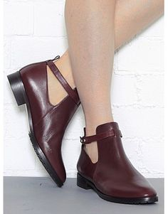 """Burgundy Ankle Boots. As they say in England: """"FAB!"""""""