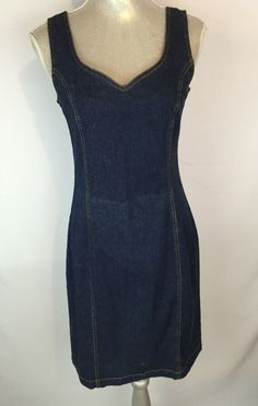 Newport News Dress Dark Denim Size 10 Sexy #NewportNews #Casual