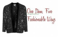 When we think holiday sweater, we think ugly Christmas sweater.  But what if you're actually looking for an attractive holiday sweater?  Here are five looks using one holiday sweater that's actually stylish.  via @Bridgette Raes