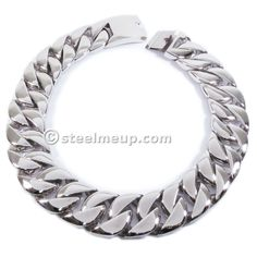 Stainless Steel Huge Heavy 31mm Wide Men Chain Necklace