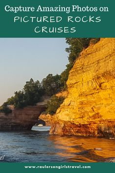 Get amazing photos of where Lake Superior meets the sandstone cliffs of the Pictured Rocks National Lakeshore on the Pictured Rocks Cruises | Michigan | Munising | U.S. National Park |Sunset Cruise | Photography Tips