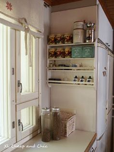 XL Cheap & Chic: Keittiön makeover etenee - Kitchen makeover moves ... The Doors, French Door Refrigerator, French Doors, Kitchen Appliances, Chic, Home, Diy Kitchen Appliances, Shabby Chic, Home Appliances