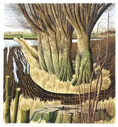 Simon Palmer (English, b. The Glacial Vale, pen and black ink, watercolor and bodycolor on paper, 67 x cm. Landscape Art, Landscape Paintings, Landscapes, British Schools, Over The River, Magazine Art, Art Auction, Printmaking, Photo Art