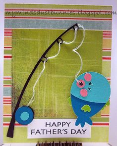Cricut Simply Charmed fishing pole - I like now floss/string can be be used for a more effect. Fathers Day Crafts, Happy Fathers Day, Teacher Appreciation Cards, Hobby House, Dad Day, Cricut Cards, Happy Thursday, Card Making Inspiration, Man Birthday