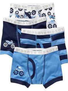 Patterned Boxer Brief 4-Packs for Baby
