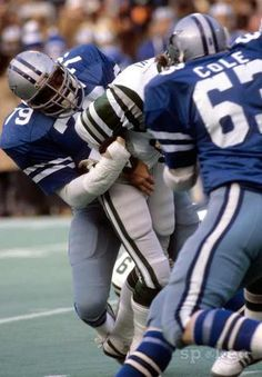 Harvey Martin: Defensive end with the Dallas Cowboys in the 1970s and early '80s. He set team records with 114 career sacks and 20 sacks in 1977 alone. He and Randy White were co-MVP in Super Bowl XII and made the Pro Bowl four times.