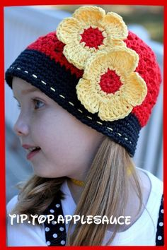 Flowers for Miss Mouse Hat with clips Custom by tiptopapplesauce, $30.00