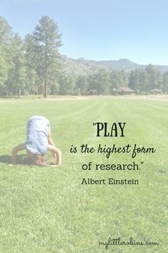 We Have Play Based Learning All Wrong One of the things that drew me to preschool at home is the time it frees up for us (read about the other reasons I love preschool at home here). We have some weekly commitments and some play dates that come up, but we Play Based Learning, Learning Through Play, Kids Learning, Quotes About Children Learning, Play Quotes, Quotes To Live By, Life Quotes, Quotes About Play, Nature Quotes