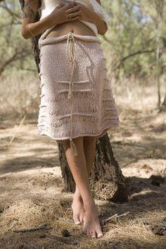 Hand knit skirt, $249