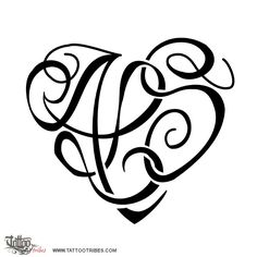 S Alphabet Letter In Heart heart. Family union. Heartigrams are hearts designed by weaving ...
