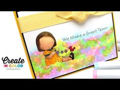 Happy Together: Copic Watercolor Garden - YouTube  #mftstamps