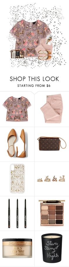 """Bail you out, make you laugh, pick you up when you're down.It's all about the company you keep."" by erinleigh02 ❤ liked on Polyvore featuring Needle & Thread, Gap, Louis Vuitton, Sonix, Forever 21, Stila, Too Faced Cosmetics, Bella Freud and Kate Spade"