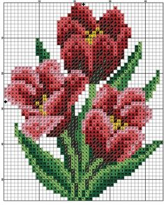 Zz 001 Pink Flower And Butterfly Cross Stitch Cards, Beaded Cross Stitch, Cross Stitch Rose, Crochet Cross, Cross Stitch Flowers, Filet Crochet, Cross Stitching, Cross Stitch Embroidery, Cross Stitch Designs