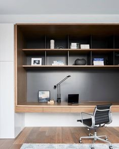 Kew townhouse by Coy Yiontis - Office Desk - Ideas of Office Desk - Modern Apartment Study Space