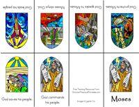 Moses and Ten Commandments Bible Minibook
