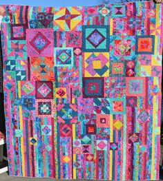 Gypsy wife quilt. I love the saturated colors!