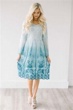 edce722ffa8 Our best selling dress is back in this beautiful ombre lace!! Our Day  Dreamer