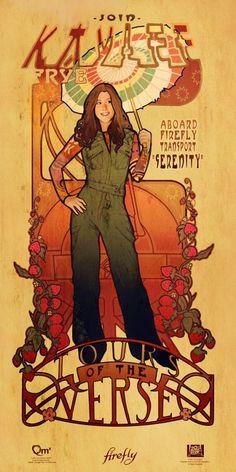 #Firefly Kaylee Art Nouveau print by Megan Lara, for sale at ThinkGeek: www.thinkgeek.com/homeoffice/posters/ea14/