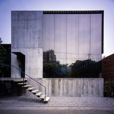 """Mount Fuji Architects Studio """"This architecture is consisted by combining L-shaped blocks of reinforced concrete and sequential frames of box-shaped engineer-wood"""""""