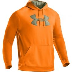 Under Armour Mens UA Big Logo Fleece Hoody - Blaze - Mills Fleet Farm