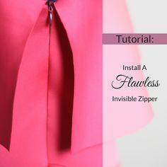 Tutorial: Install a Flawless Invisible Zipper http://www.stylesewme.com/tutorial-install-flawless-invisible-zipper/