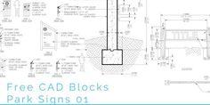 Free CAD Blocks – Park Signs 01 - First In Architecture
