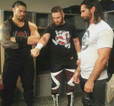 Roman Reigns, Sami Zayn and Seth Rollins