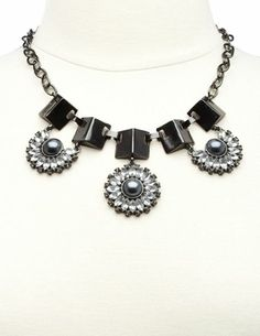 Peal & Rhinestone Blossom Statement Necklace: Charlotte Russe
