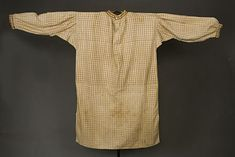 Men's Woven Cotton Work Shirt, 1860s, but in a style very common for the 1850s, too.