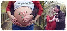 Christmas Maternity Pics. These would be so cute if your pregnant around Christmas time!