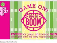 Game On! Bring the Boom Sweepstakes